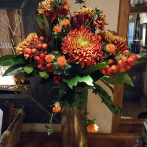warm autumnal decorations