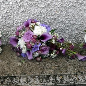 purple wedding flowers, bucks