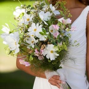 wild flower brides wedding bouquet