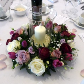 candle rounds table decorations