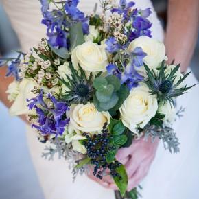 thistle brides bouquet, bisham abbey