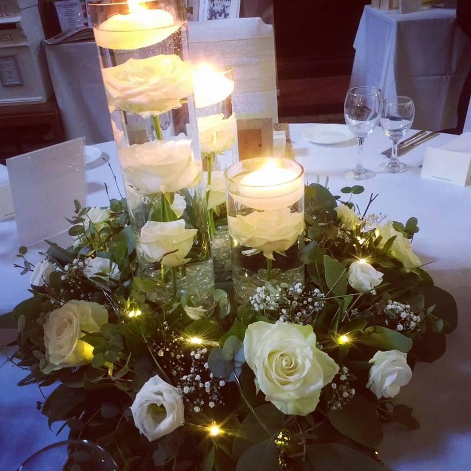 spring wedding flower arrangement - garden room flowers