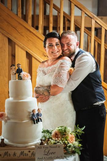 wedding cake decorations at the tudor barn