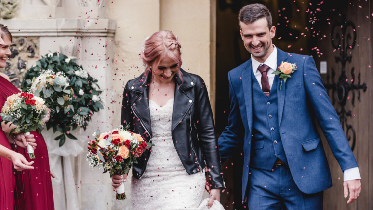 Rocking It with a Leather Wedding Jacket