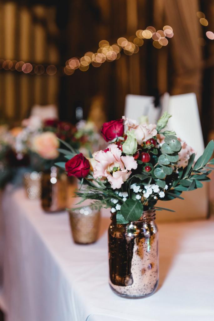 top table flowers, Olde Bell, Hurley