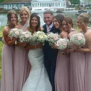 gypsophila wedding bouquets buckinghamshire 2015