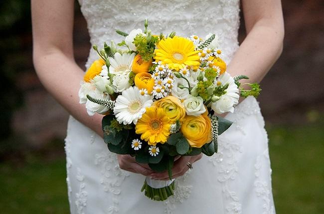 yellow wedding flowers amersham