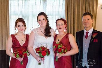 red wedding flowers gerrards cross 2015