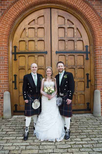 The bride at Waddesdon Manor