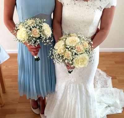 rose wedding bouquets amersham 2015