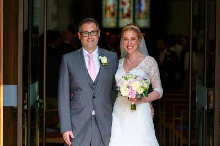 bride and groom - wedding flowers buckingham