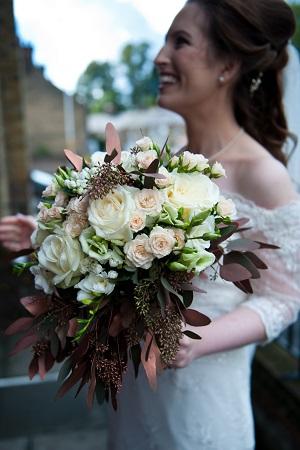 copper foliage wedding bouquets amersham 2016