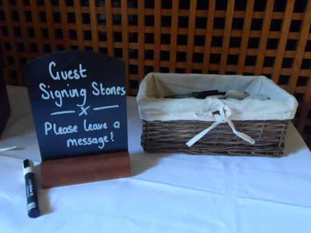 Guest book - wedding flowers buckingham