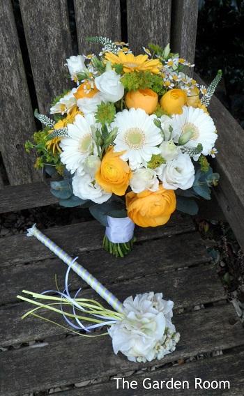 yellow wedding bouquets buckinghamshire