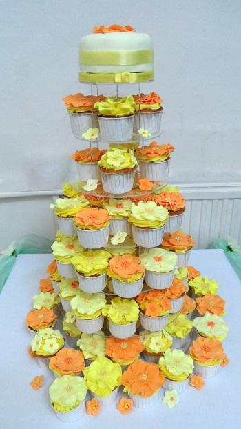 yellow wedding flower cake, amersham