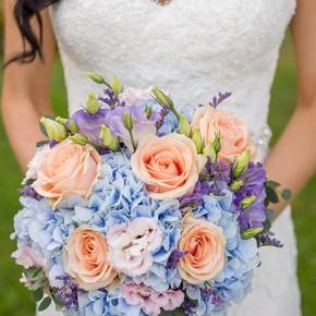 hydrangea and rose bouquet, bucks