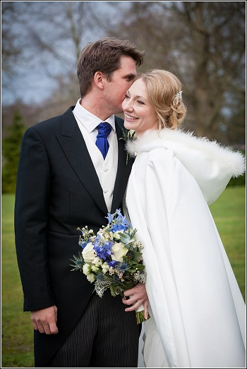 wedding florist - bride and groom at bisham abbey