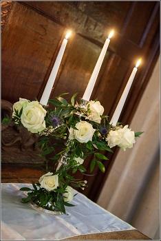 wedding decorations - candelabras at bisham abbey