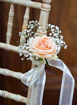 aisle flower decorations, buckingham