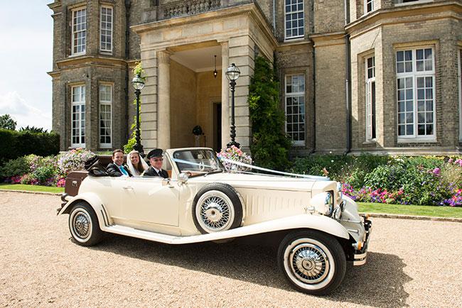 vintage wedding car, buckingham