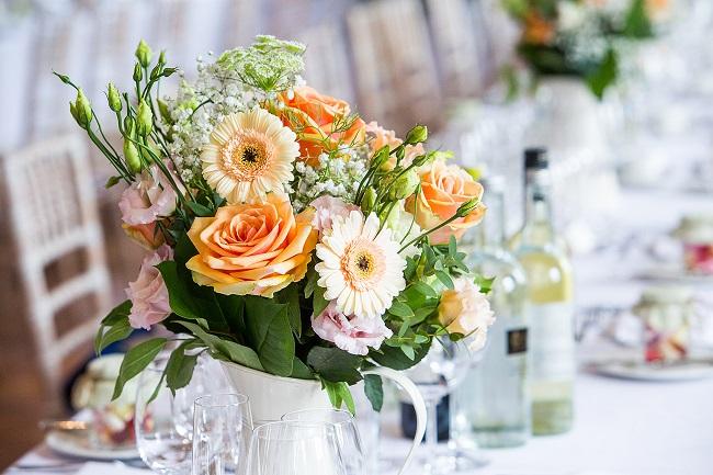 wedding floral arrangements - summer country style wedding