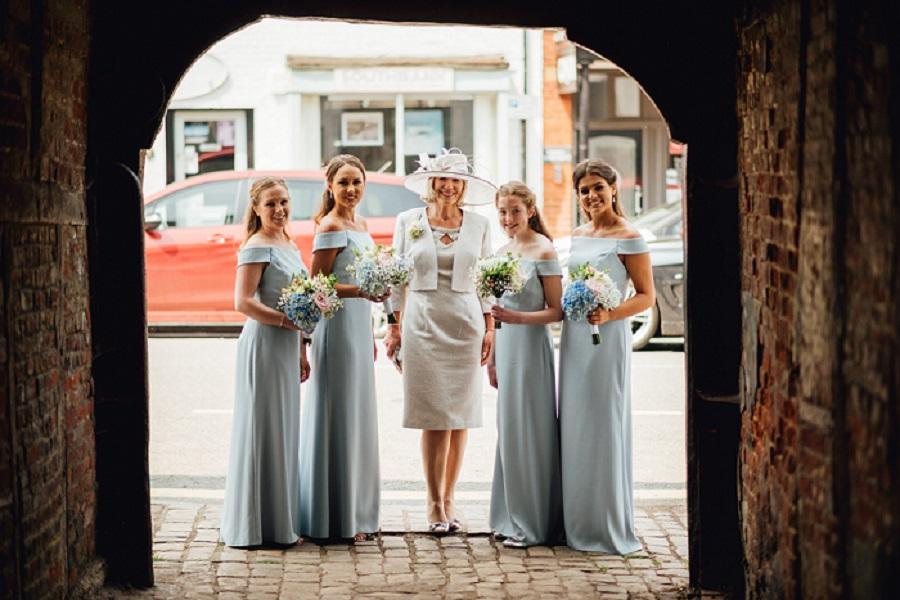 Bridesmaid's with mum