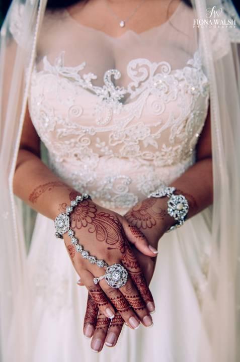 Bride's henna tattoos